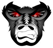 Gniewny goryl ilustracja wektor