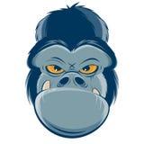 Gniewny goryl głowy clipart ilustracji