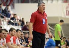 Gniewny Handball trener Zdjęcia Royalty Free
