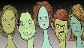 Gniewny i niebezpieczny, ilustracja Obrazy Royalty Free