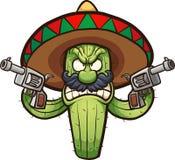gniewny kaktus ilustracja wektor