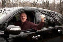 gniewny kierowca Obraz Stock