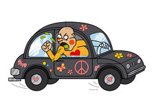 Gniewny kierowca ilustracja wektor