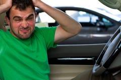 gniewny kierowca zdjęcie stock