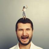 Gniewny kobiety łajania mężczyzna Zdjęcie Royalty Free