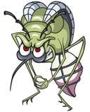 Gniewny komar w oczekiwaniu na kąsek Fotografia Stock