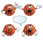 Gniewny koszykówka set Zdjęcie Stock