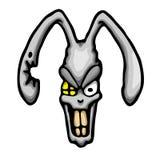 Gniewny królik ilustracja wektor