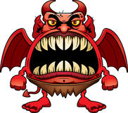 Gniewny kreskówka diabeł Fotografia Stock