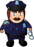 Gniewny kreskówka policjant royalty ilustracja