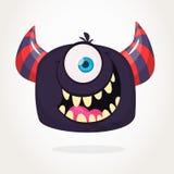 Gniewny kreskówka potwór Gniewna czarna potwór emocja Wektorowa Halloween ilustracja Duży set kartonów potworów clipart royalty ilustracja