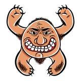 Gniewny kreskówka potwór, wektorowa ilustracja Zdjęcie Stock