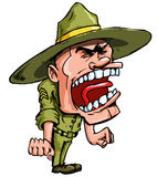 gniewny kreskówki świderu sierżant Obraz Royalty Free