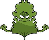 Gniewny kreskówki Kale liść ilustracji