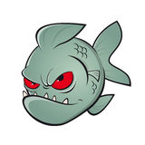 Gniewny kreskówki Piranha ilustracja wektor