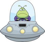Gniewny kreskówka obcego UFO Zdjęcie Stock
