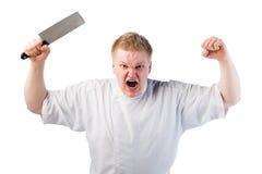 gniewny kucharz Zdjęcia Stock