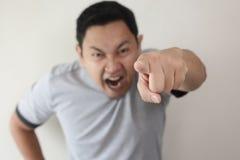 Gniewny mężczyzny Dawać Ostrzega zdjęcia royalty free