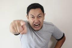 Gniewny mężczyzny Dawać Ostrzega zdjęcie stock