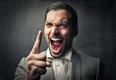 Gniewny mężczyzna Fotografia Royalty Free