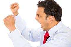 Gniewny mężczyzna Zdjęcia Royalty Free