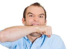 Gniewny mężczyzna Fotografia Stock