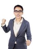 Gniewny młody bizneswoman obraz royalty free