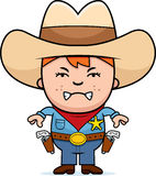 Gniewny Mały kowboj ilustracja wektor