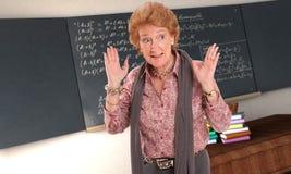 Gniewny Maths nauczyciel Obraz Royalty Free