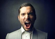 Gniewny mężczyzna Obrazy Stock