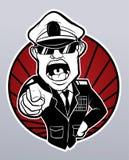 Gniewny militarny generał ilustracja wektor