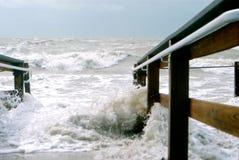 Gniewny morze Obrazy Royalty Free