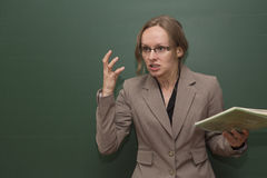 Gniewny nauczyciel Fotografia Royalty Free
