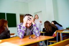 Gniewny nauczyciela wrzeszczeć obraz stock
