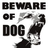 Gniewny pies ilustracji