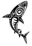 Gniewny plemienny rekin Zdjęcia Royalty Free