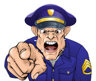 gniewny policjant Zdjęcia Stock