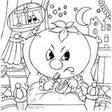 gniewny pomidor Obraz Royalty Free