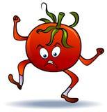 Gniewny pomidor royalty ilustracja