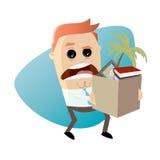 Gniewny pracownik rezygnuje jego pracę ilustracji