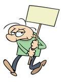 gniewny protestujący ilustracja wektor