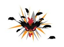Gniewny ptak, kogut/ Obrazy Royalty Free