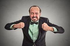 Gniewny sfrustowany mężczyzna krzyczeć Zdjęcia Stock