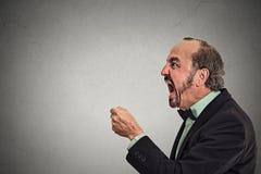 Gniewny sfrustowany mężczyzna krzyczeć Zdjęcie Royalty Free