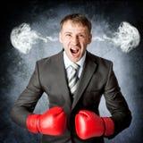 Gniewny spęczenie stresujący się mężczyzna z głowa naciskiem zdjęcia royalty free