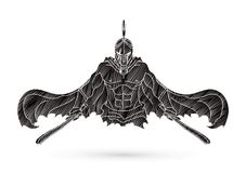 Gniewny Spartański wojownik z kordzik kreskówki grafiki wektorem ilustracja wektor
