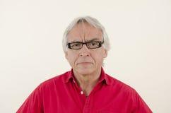 Gniewny starszy mężczyzna Fotografia Royalty Free