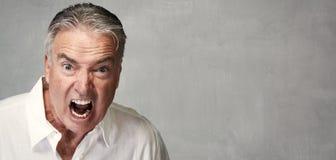 Gniewny starszy mężczyzna Obraz Royalty Free
