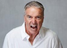 Gniewny starszy mężczyzna Obrazy Royalty Free