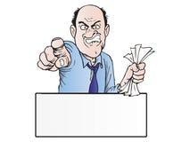 gniewny szef ilustracji
